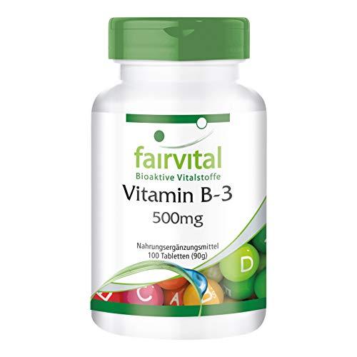 Vitamina B3 500mg - Niacina Flush Free - No ruborizante - Nicotinamida - VEGANA -...