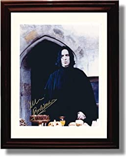 Framed Alan Rickman Autograph Replica Print - Harry Potter