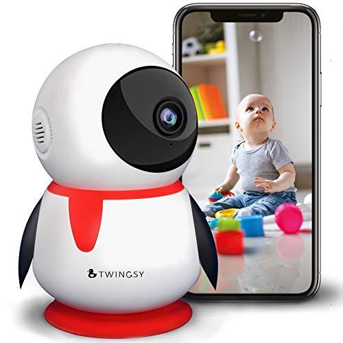 2020 Twingsy Wunderschöne Überwachungskamera für Baby und Haus | Full-HD WLAN IP 1080p Babyphone mit Kamera für iPhone/Android.