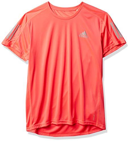 adidas Camiseta para Hombre Own The Run, Hombre, Camiseta, S19080613, Signal Pink/Reflective Silver, S