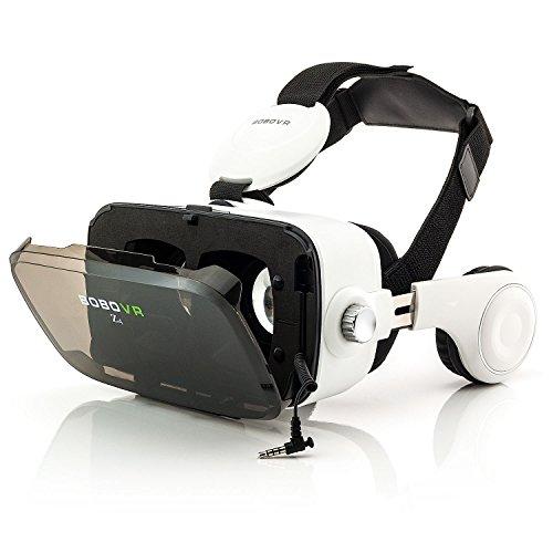 zanasta VR Gafas 3D VR Realidad Virtual con Auriculares Universal Visor Virtual Reality Video Juegos simulación Gaming Headset Ajustable para Apple iPhone, Samsung Galaxy, Sony Xperia y Muchos más