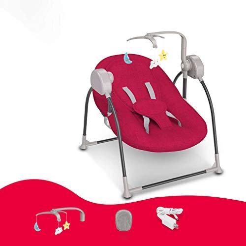ZWQ kids Chaise bébé à Bascule électrique, inclinable Berceau Pliant bébé, Chaise de Confort Nouveau-né endormi, Le Shaker Enfants, adapté pour 0-2 bébé,D