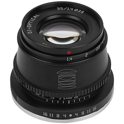 Lente de cámara, lente de retrato de gran apertura APS-C F1.4 de 35 mm, para Canon M3 / M5 / M6 / M6 II / M10 EOS-M
