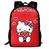 Mei-shop Mochila Informal Personalizada Hello-Kitty Red Love Mochila Escolar...