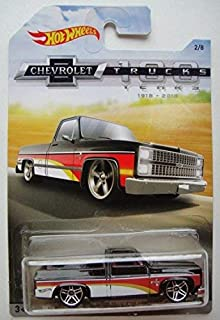 Hot Wheels CHEVROLET TRUCKS 100 YEARS, BLACK '83 CHEVY SILVERADO 2/8