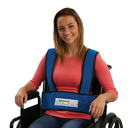 Sammons Preston 50599 Adult Foam Torso Support, Wheelchair Straps Hold User Upright to Posture Alignment, Adjustable Chest & Waist Band Prevent Tilting or Falling of Elderly, Disabled, Handicapped