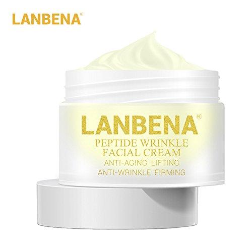 Bulary Lanbena Peptid-Anti-Falten-Creme, Anti-Aging-Pflege, straffende Gesichtscreme, Creme für Stirn- und Lippenfalten Wirksam gegen Falten.