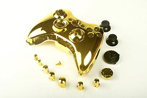 Canamite® Case Hülle Gehäuse Modding Cover Chrome Shell für Xbox 360 Controller (Gold)