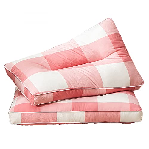YUBING 2 corazones de almohada simples lavables de algodón puro corazones de almohada lavables individuales dobles hogar almohada corazones sin fundas de almohada