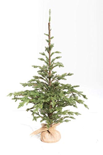 XONE Pinetto PE Effetto Real Touch 180Cm | Mini Albero Di Natale Artificiale Con Base In Juta