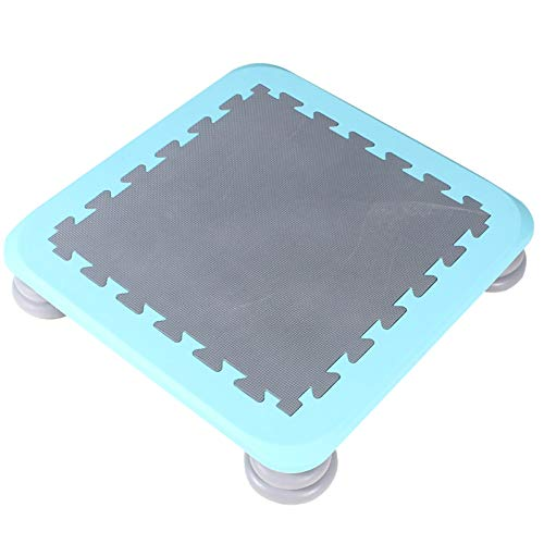 YYLL Small Square Bouncing Trampoline Home Children Indoor Baby Increase Bouncing Bed Sensory Training Device (Color : Blue)