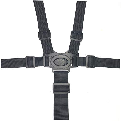 2 Pack 5 Point Harness Baby Seat Belt, Adjustable Harness Baby Safety Belt Strap for Stroller Pushchair Pram Buggy High Chair Baby Harness Safety Harness Strap Belt