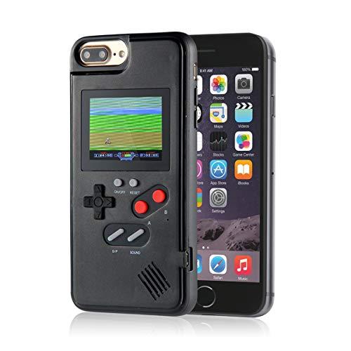 Volwco - Funda de Gameboy de silicona para iPhone X, XS, XX, XR, iPhone 8/8 Plus, iPhone 7/7 Plus, iPhone 6/6Plus, con 36 juegos, silicona plástico abs TPU, negro, IPHONE6P/6SP/7P/8P