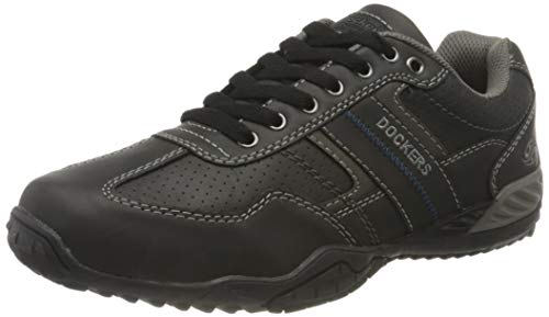 Dockers by Gerli Herren Schuhe 44bn010-650120 Sneaker, Schwarz Grau, 43 EU