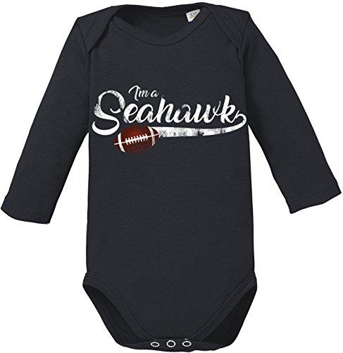EZYshirt® I`m a Seahawk | American Football Bio Baumwolle Baby Body Longsleeve