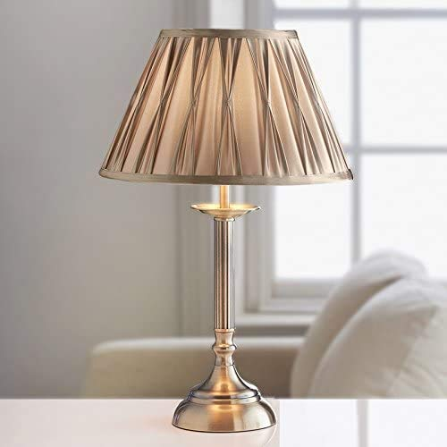Luz de banco elegante, lámpara de tejido arrugado, lámpara de noche del dormitorio, luz de estudio de la sala de estudio,Bronze