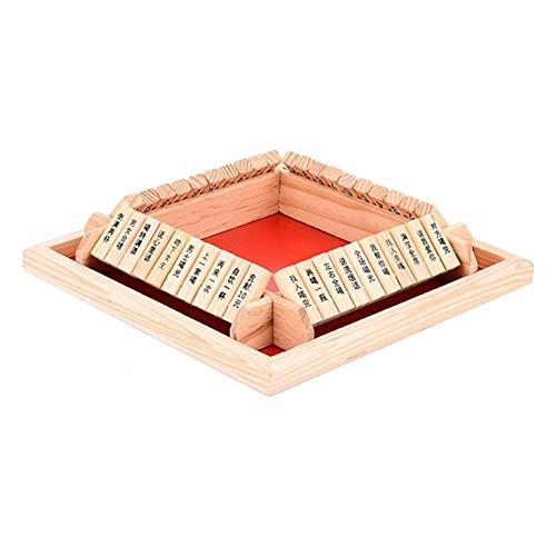 coil-c Cerrar el Box Juego de dados | Bar Desktop Impermeable de 4 lados grande madera Sudoku | Mesa de Madera Clásica de Cubos Juguetes para Fiesta o Bar