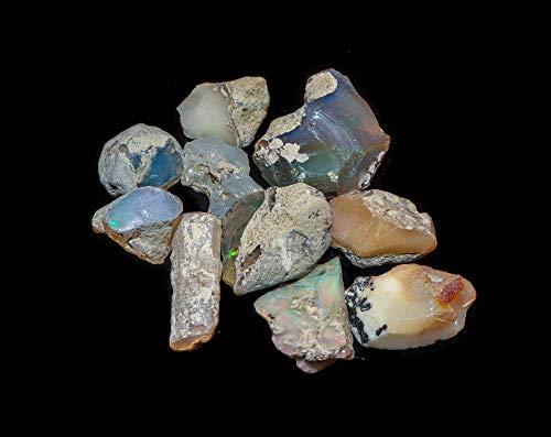 InfinityGemsArt 10 piezas raw etíope opal opal piedra en bruto para joyería fabricación piedras preciosas naturales y cristales cristales chakra healing octubre piedra del ópalo para el colgante