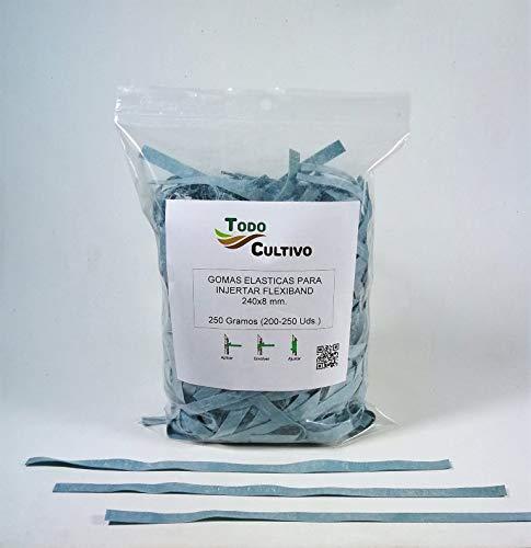 Todocultivo Gomas de injertar Flexiband. 250 Gramos. 240x8 mm. Especialmente estudiadas para Todo Tipo de injertos.