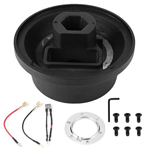 Read About Steering Wheel Hub Adapter, Car Aluminum alloy Steering Wheel Hub Quick Release Adapter K...