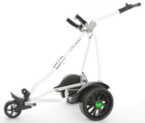 GreenHill PTS Ultra (Bremse) Skyline Lithium Elektro Golf Trolley White/Titanium 18 Hole Battery