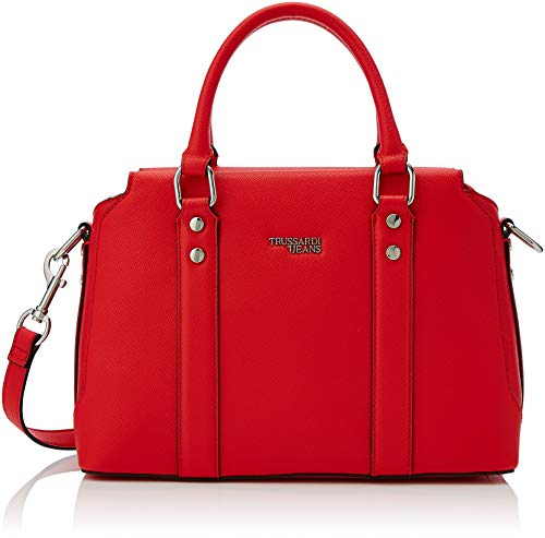 Trussardi Jeans Berry Bauletto, Borsa a Mano Donna, Rosso (Red), 31x22x14 cm (W x H x L)