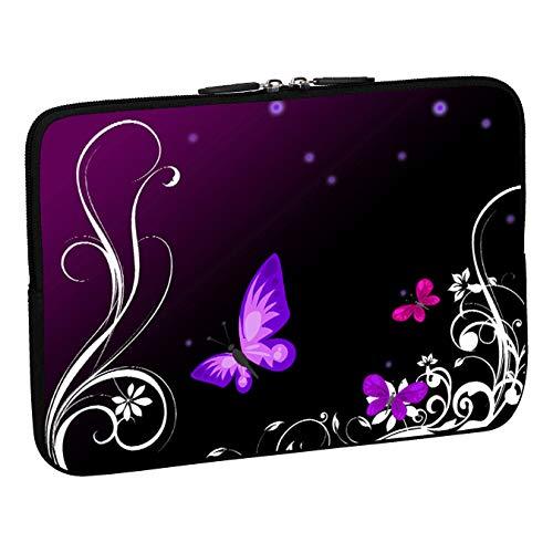 """PEDEA Funda de Neopreno para portátiles de 15.6"""" (39,6cm), Purple Butterfly"""
