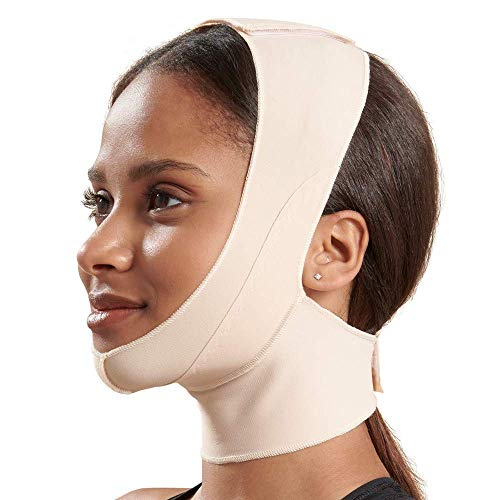 Marena Recovery Chin strap, mid-neck coverage, Beige, M