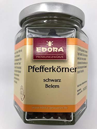 Premium Qualität Gewürz EDORA Schraubglas Pfefferkörner schwarz Belem / Brasil ASTA Pfeffer 75 Gramm
