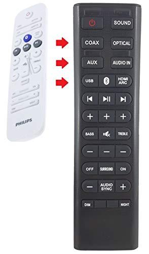 Ersatz Fernbedienung passend für Philips HTL3140B/05 HTL3140B/12 HTL3140B/51 HTL3142S/12