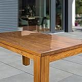 laro Tischfolie Tischdecke Transparent Durchsichtig Abwaschbar Garten-Tischdecke Tischschutz-Folie PVC Plastik-Tischdecken Wasserabweisend Eckig 2 mm Dicke Meterware, Größe:100x200 cm - 2
