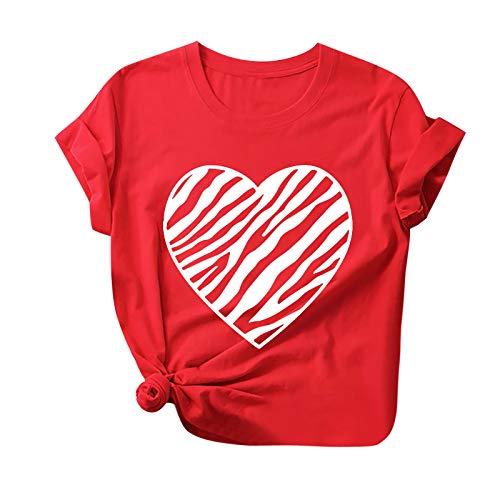 Morran Camiseta De Manga Corta con Estampado De Amor para Mujer, Divertida Camiseta De Poliéster