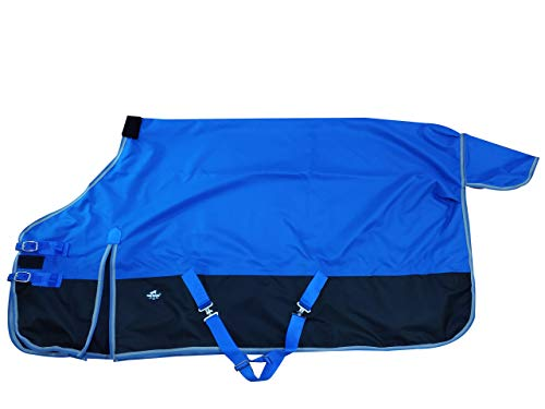 1200Denier Waterproof and Breathable Horse Sheet Tgw Rding Horse Blanket (74', Royal Blue)