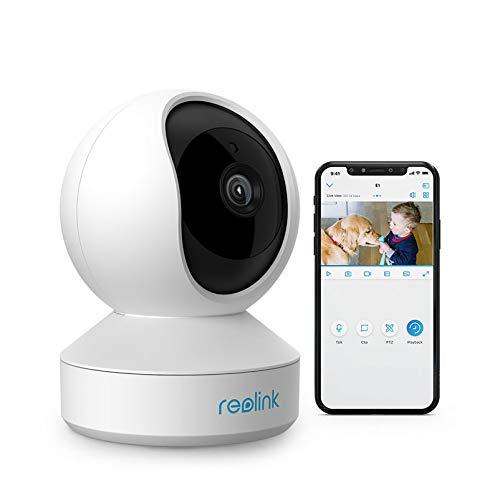 Reolink WLAN IP Kamera schwenkbar, Überwachungskamera Innen Handy 3MP HD mit 2,4 GHz WLAN, 355°Schwenk- / 50°Neigung, Zwei-Wege-Audio, IR-Nachtsicht und Bewegungserkennung, E1