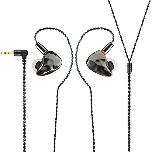 IKKO OH10 In-Ear-Monitor, abnehmbares Design, In-Ear-Kopfhörer, 10 mm dynamisches Laufwerk + Knowles 33518 Balanced Drive Dual Hybrid
