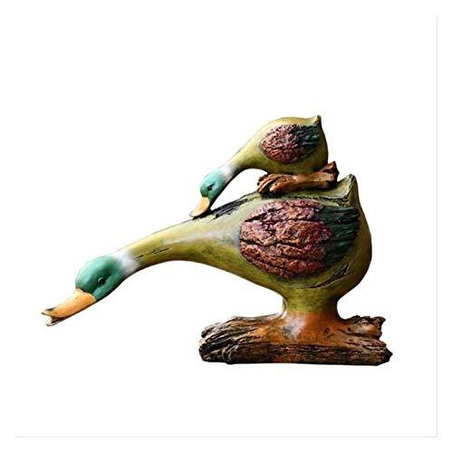 Estatua escultura para el hogar decoración adorno al aire libre jardín adornos al aire libre lindo absorción de agua absorción de agua resina artesanía creativo animal arte patio jardinería decoración