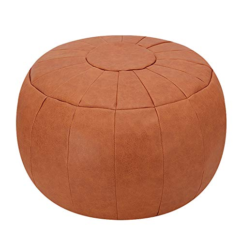 Rotot Decorative Pouf, Ottoman, Bean Bag Chair, Foot Stool, Foot Rest, Storage Solution or Wedding Gifts (Unstuffed) (Tan)