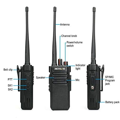 Retevis RT29 2 Way Radios Long Range,High Power Heavy Duty Two Way Radios,Rugged Walkie Talkies with Waterproof Speak… 5