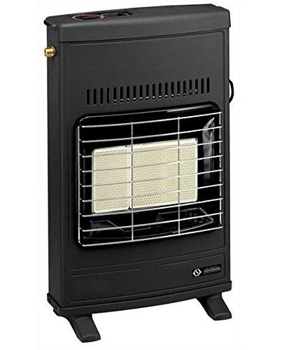 Olimpia Splendid 99827 Super Infra Metano Turbo, Stufa Infrarossi a Metano 4200 W con ventilatore, Made in Italy, Nero