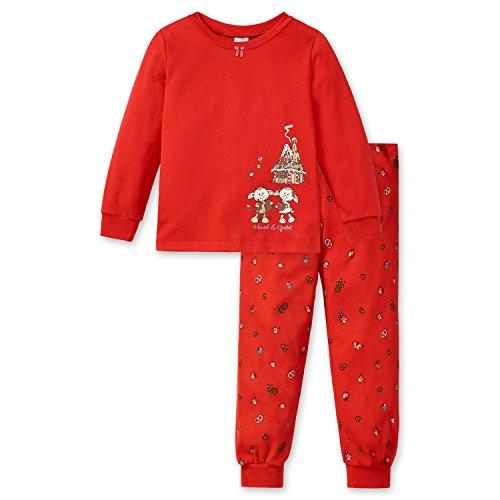 Schiesser, Mädchen Schlafanzug, Pyjama, Langarm, NICI 'Jolly Hänsel & Gretel', rot, 149777, Größe:104 (Herstellergröße 104)