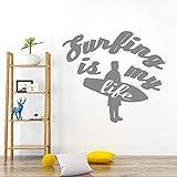 Water sportsman adventure sea wave surfing boy dormitorio sala de estar decoración agua etiqueta de la pared decoración del hogar impermeable etiqueta de la pared decoración de la pared mural 57 *