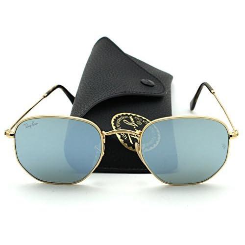 64865c5d3330 Ray-Ban RB3548N HEXAGONAL FLAT LENSES Sunglasses Silver Flash Lens 001/30,  54