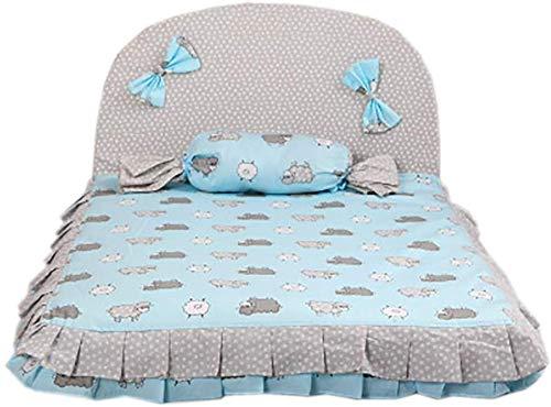 YLCJ Afneembaar, warm en comfortabel anti-bont hondenbed, huisdier nest. Huisdier bed. Huisdier benodigdheden. Groot en duurzaam huisdier bed voor bank (Kleur: blauw, Afmetingen: S (56x44x36cm)), S(56x44x36cm), Blauw