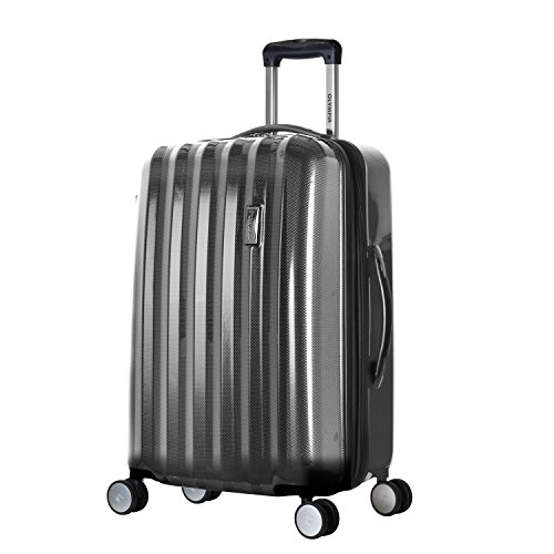 Olympia Luggage Titan 25 InchExpandable Spinner, Black, One Size