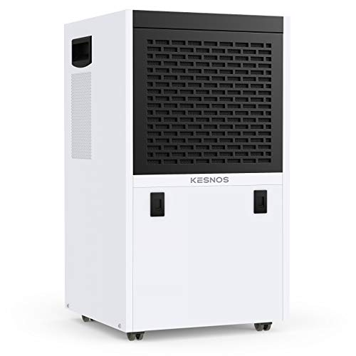 Kesnos 155 Pints Commercial Dehumidifier for Basements, Library, Showrooms, Underground Engineering, Storage Rooms, Warehouse in Large Spaces up to 7500 Sq. Ft, with Continuous Drain Hose