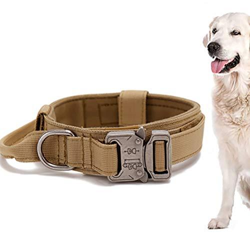 LINONI Collare tattico per cani a sgancio rapido, solido collare militare in nylon per cani di taglia piccola, media e grande accessorio per cani