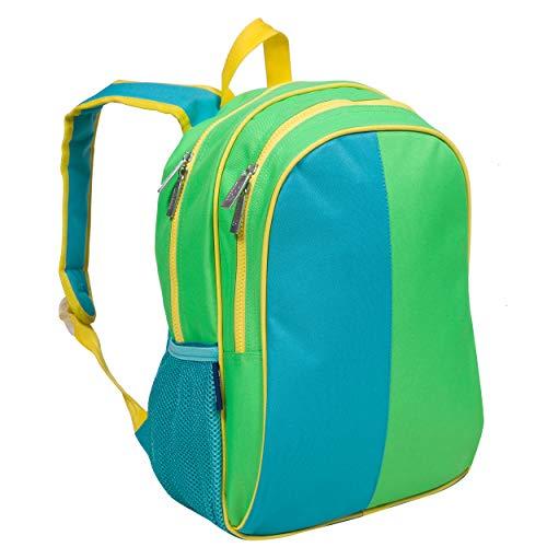 Wildkin Kinder 38,1 cm Rucksack für Jungen und Mädchen, perfekte Größe für Schule und Reisen, 600-Denier Polyester-Stoff-Rucksäcke mit gepolsterter Rückseite und verstellbarem Gurt, BPA-frei (Monster Green)