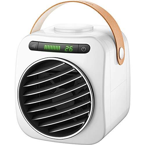 QHGao ventilator voor airconditioning, met 3 snelheden, mini-luchtbevochtiger, luchtbevochtiger, zonder bladeren