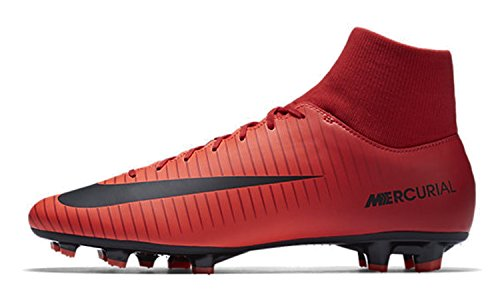 Nike Mercurial Victory Vi Df Fg Scarpini da calcio da uomo, UNIVERSITY RED/BLACK-BRIGH, 9