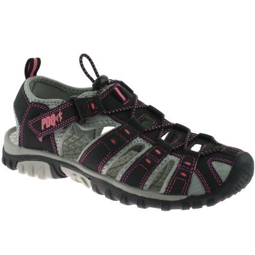 PDQ - Sandalias de vestir de Material Sintético para mujer Black/Pink